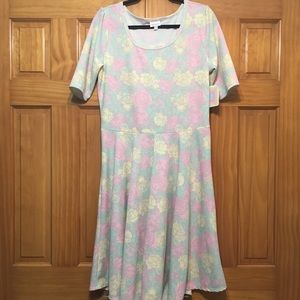 LuLaRoe Pastel Floral Dress NWT - 2XL